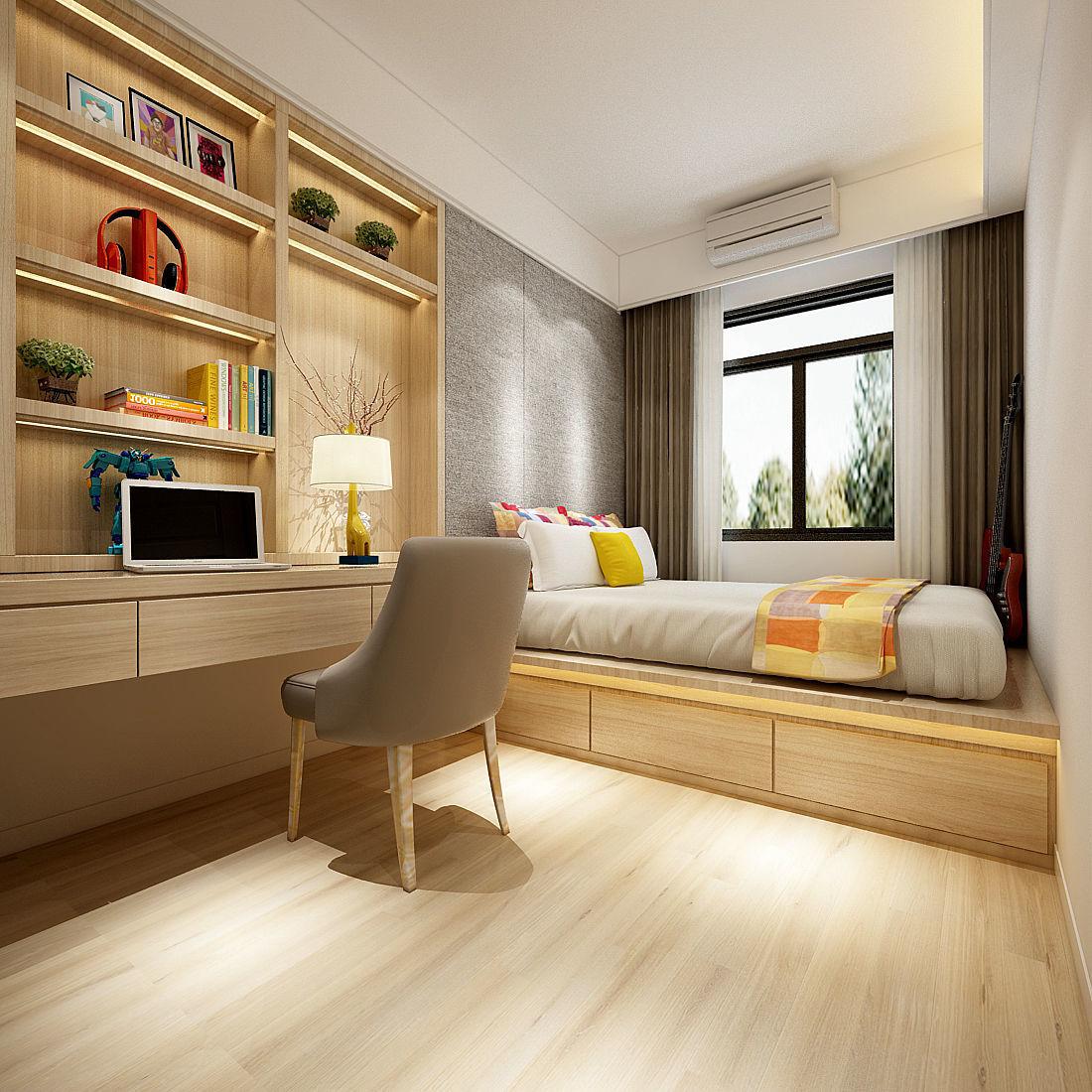 3D model Deluxe master bedroom design 35 | CGTrader on New Model Bedroom  id=48919