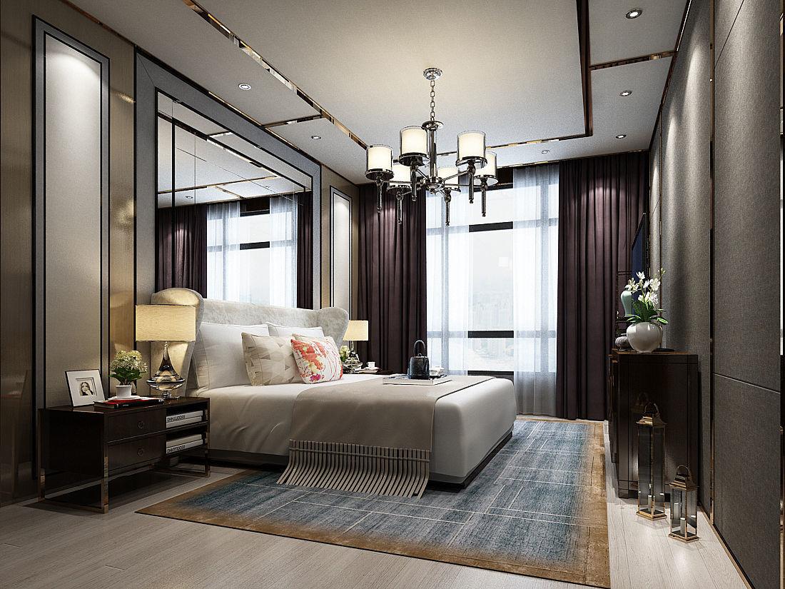 Deluxe master bedroom design 51 3D model MAX on Model Bedroom Design  id=84273