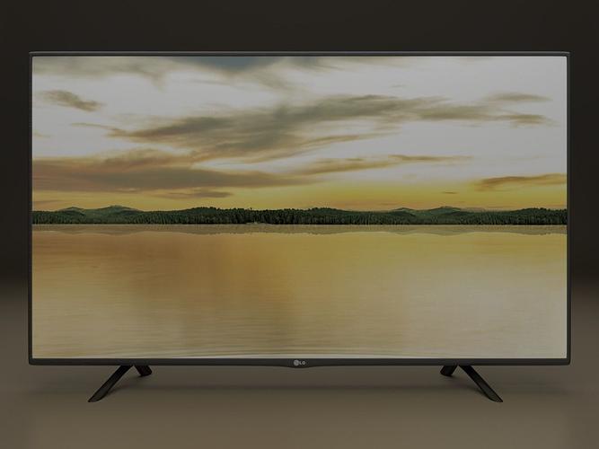 lg 42lf tv 3d model obj 3ds fbx stl blend dae 1