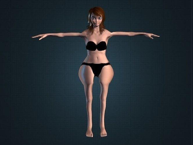 Chubby Teen Girl Model Gameready
