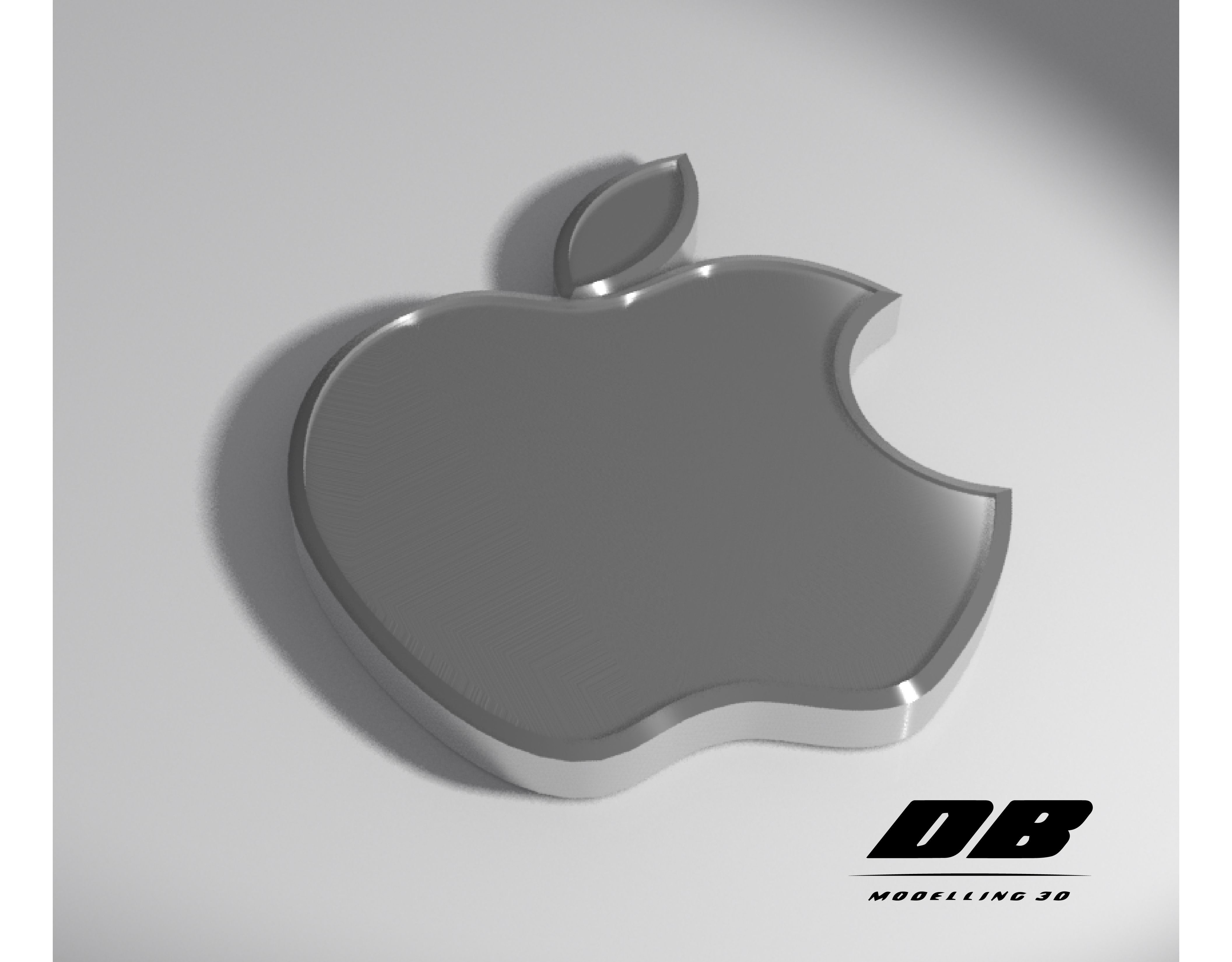 electronics apple logo 3d model | cgtrader