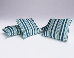 Contemporary Cushion furnishings 3D