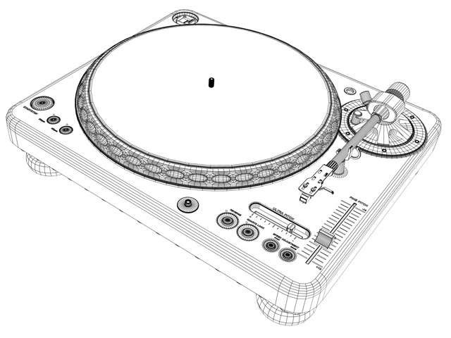 Turntable 3D Model .max .obj .3ds .stl .wrl .wrz