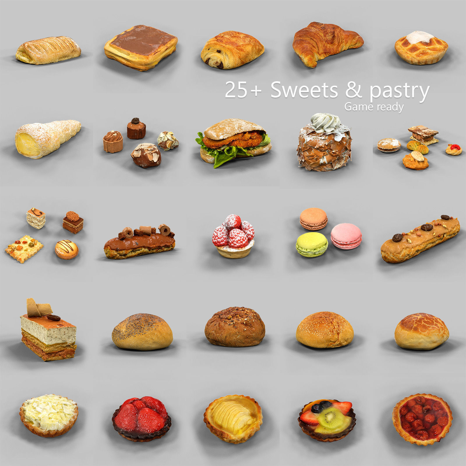 25 Sweets and Pastry Collection
