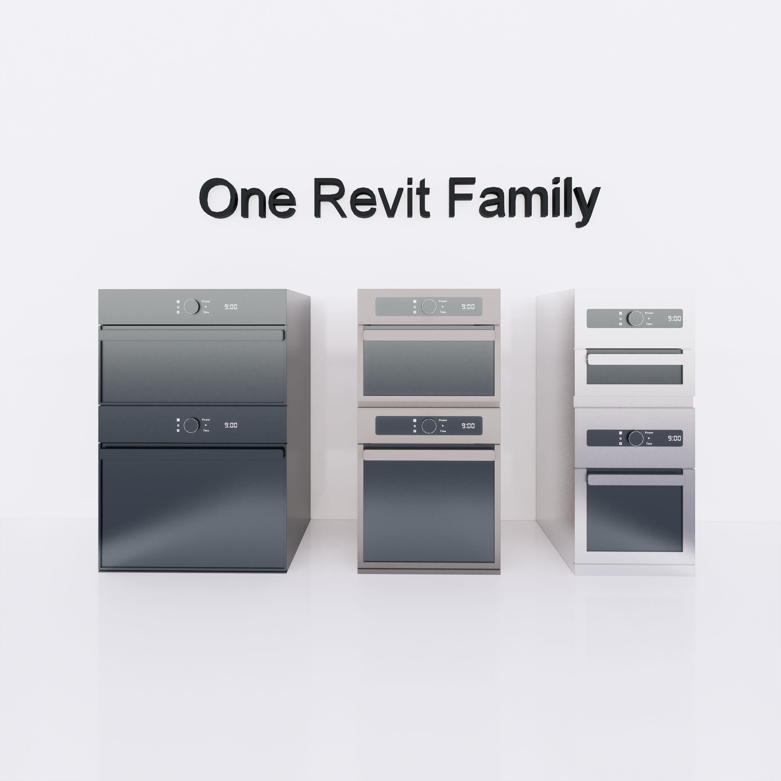 Microwave  or Oven - Full parametric Revit Family