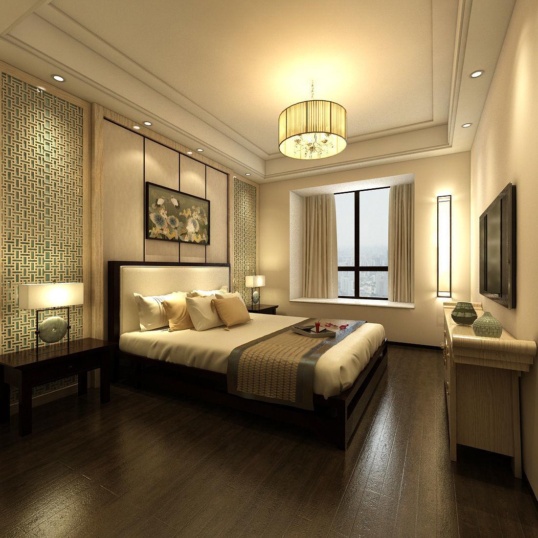Deluxe master bedroom design 98 3D model MAX on New Model Bedroom Design  id=50468