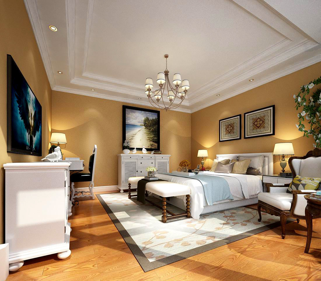 3D Deluxe master bedroom design 197 | CGTrader on New Model Bedroom Design  id=66324