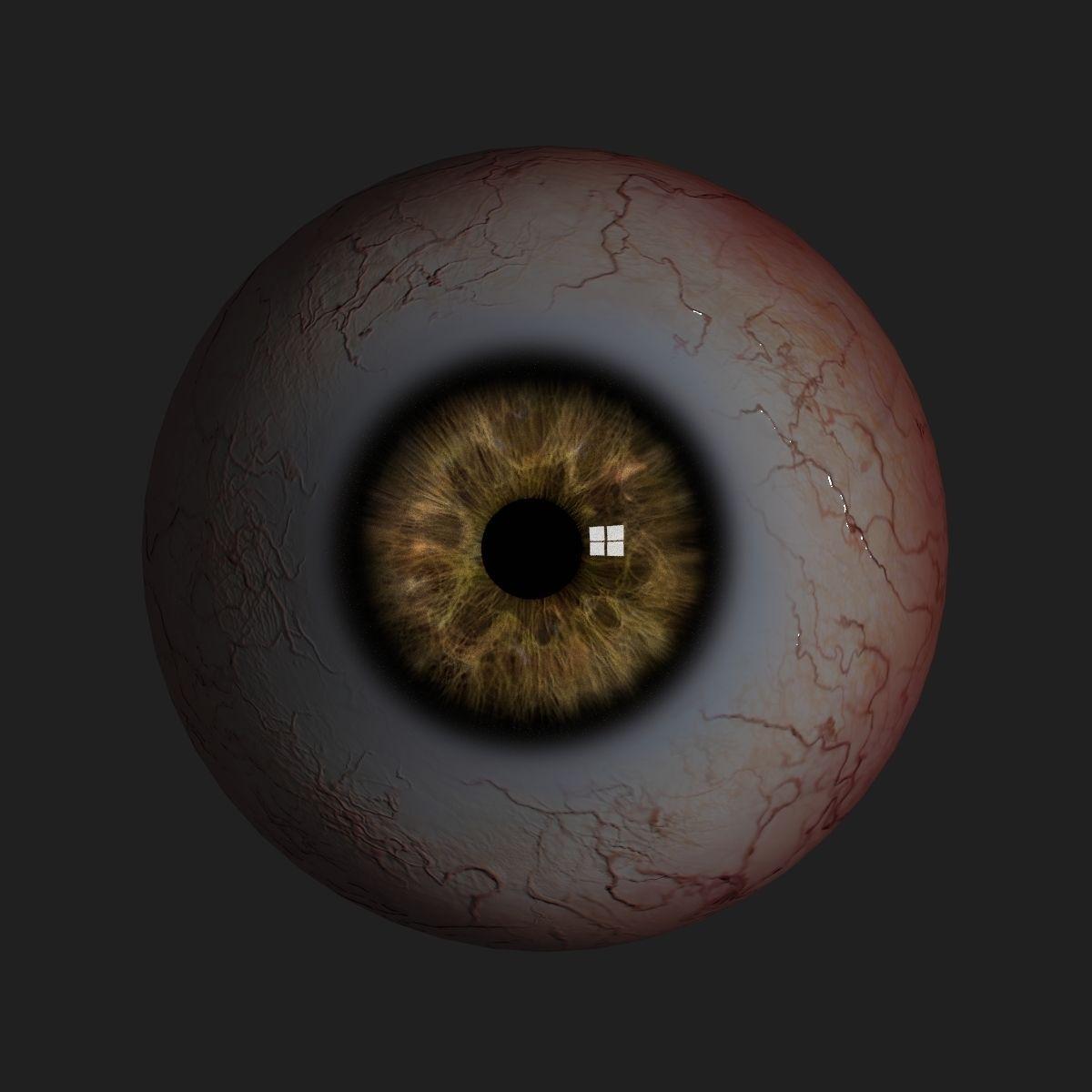 Realistic human eye 3D Model Game ready .obj .fbx .blend ...