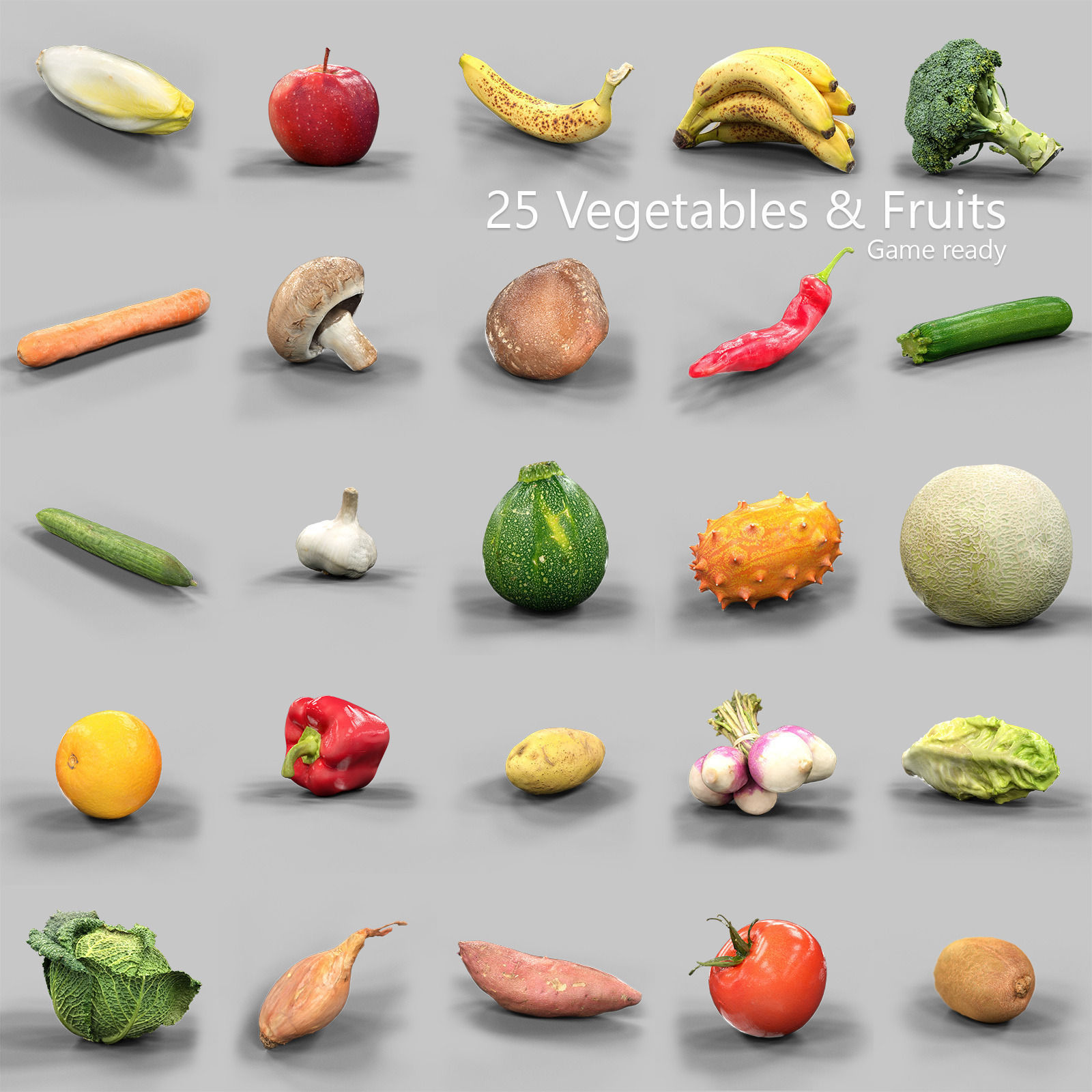 25 Fruits and Vegetables Collection