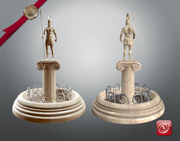 Greek Fountain Sculpture 001 3D asset