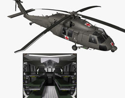 HH-60M Blackhawk MEDEVAC Helicopter 3D Model