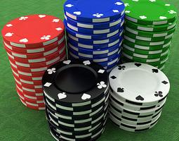 3d model casino poker chips