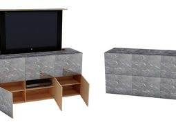 tv unit automatic tv slider 3D model