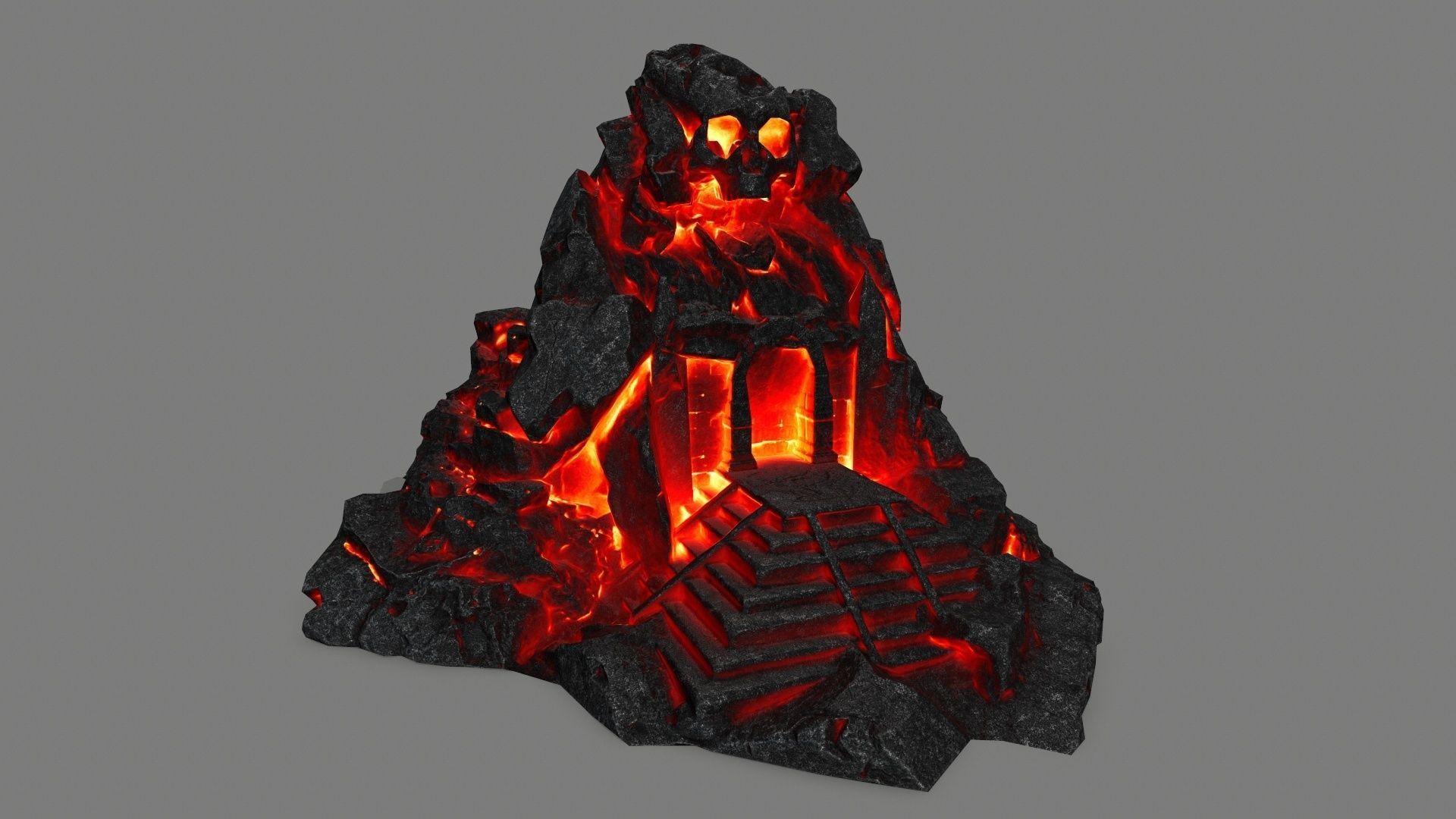 lava skull gate