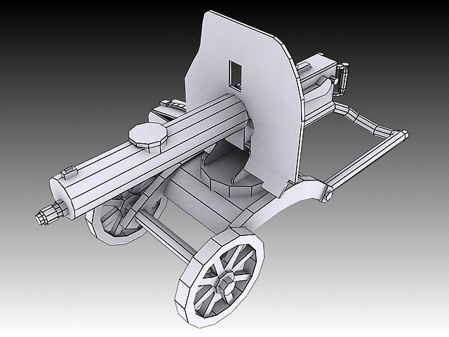 1910 maxim machine gun 3d model max obj 3ds stl wrl wrz 4