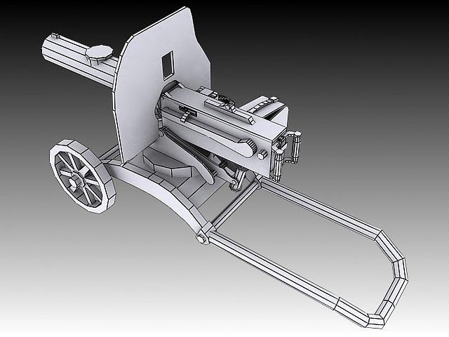 1910 maxim machine gun 3d model max obj 3ds stl wrl wrz 3