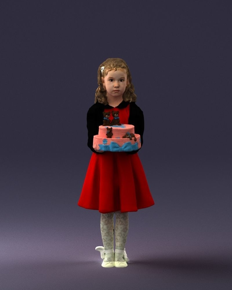 Girl with cake 0313