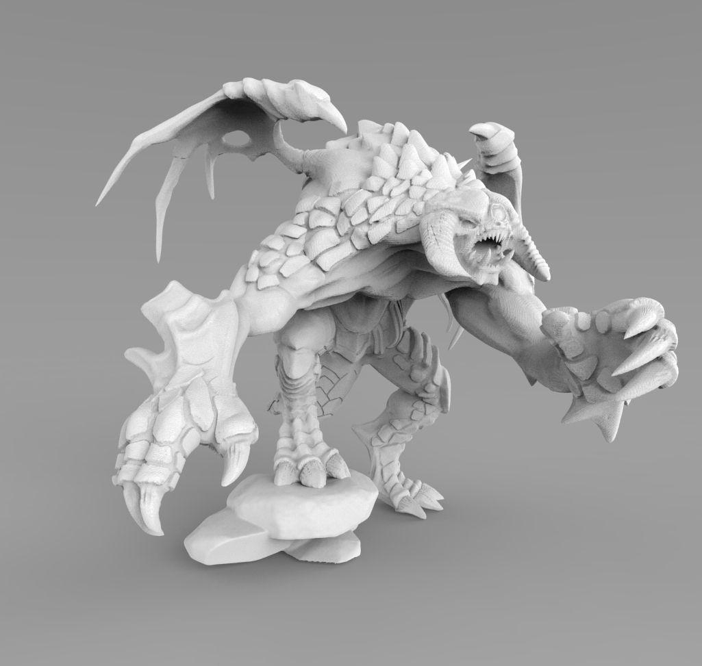 Très Dota 2 Roshan 3D Print Model | CGTrader SL22