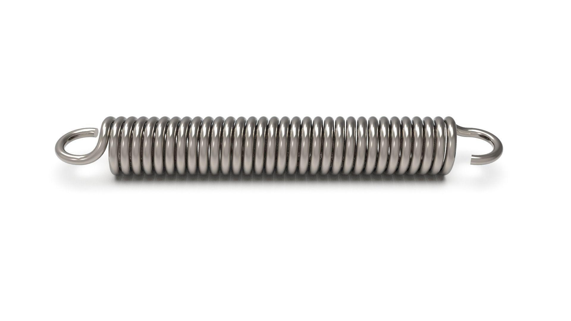 Torsion spring with hooks 3rd Method