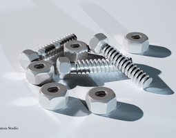 household Bolt And Nut 3D