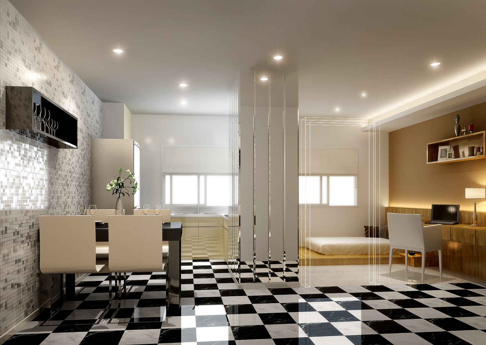Modern apartment 3d model max for Apartment 3d model