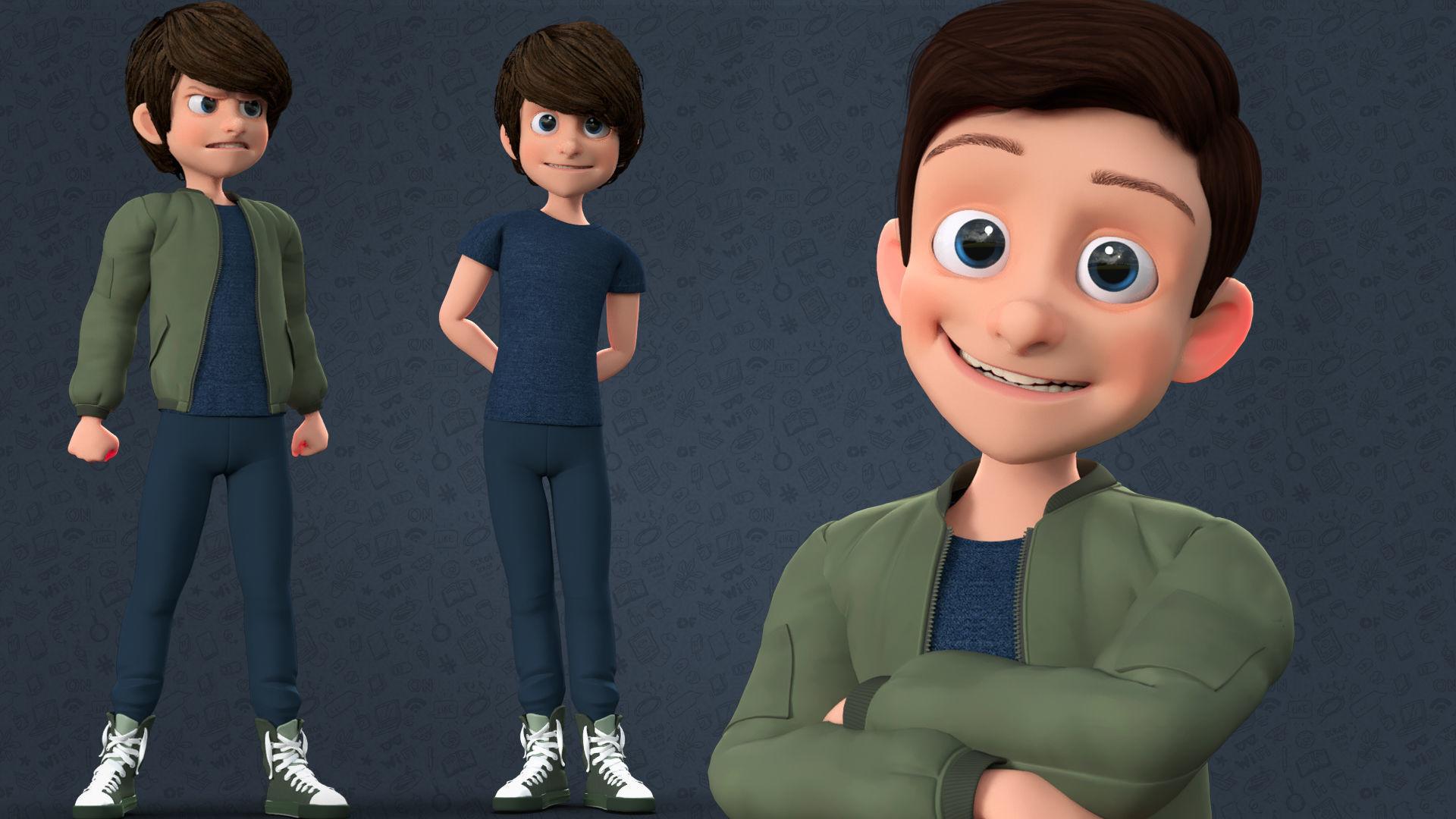Cartoon Teenage Boy Rigged 3d Asset Cgtrader