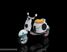 White Scooter 3D Model