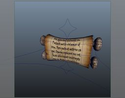 Roll paper 3D model