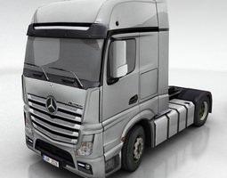 Mercedes Actros DHL UPS FedEx 3D Model