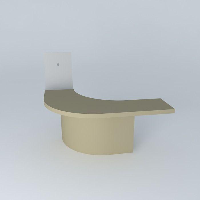 Half Round Desk 3d Model Max Obj 3ds Fbx Stl Skp 3