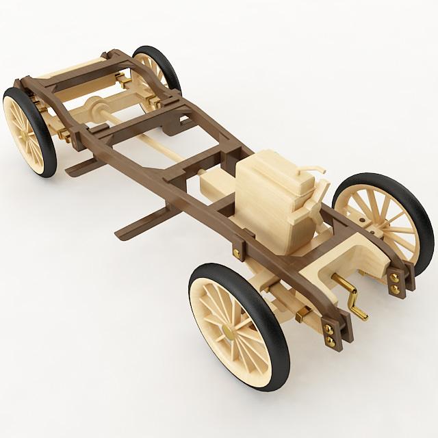 Vintage Wood Car 3D | CGTrader