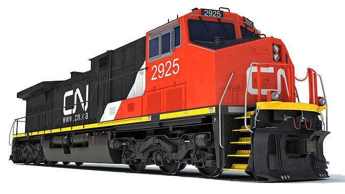 Locomotive Canadian National Railway CN