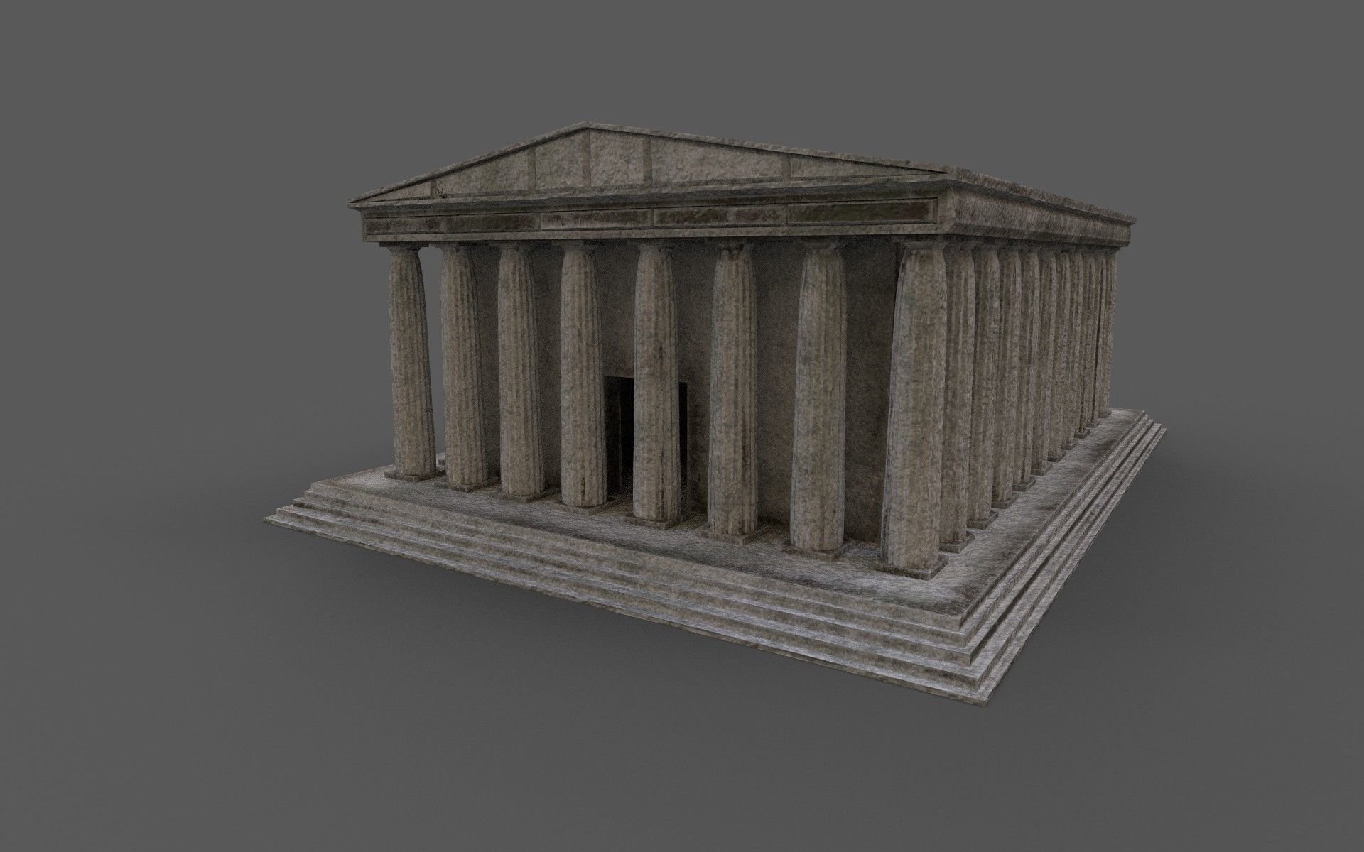 Ancient Greek temple low-poly