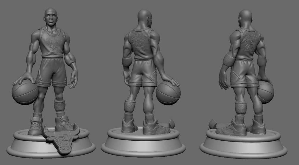 Michael Jordan 3d print Stl
