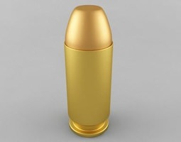 .40 S&W Cartridge 3D Model