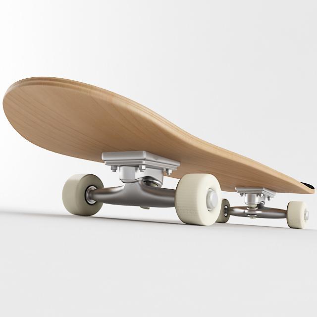 Skateboard 3d model max obj 3ds wrl wrz - Skateboard mobel ...