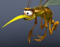 3d model mosquito cartoon
