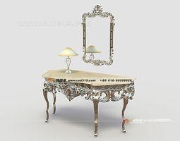 Stylish dresser family furniture design 03 3D Model