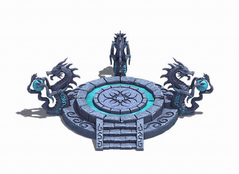 City Center Decoration - Dragon Altar
