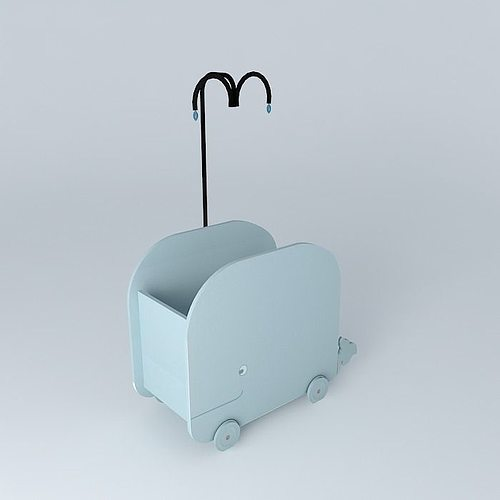 baby blue whale cradle marin maisons du monde model 3d model max obj 3ds fbx stl skp. Black Bedroom Furniture Sets. Home Design Ideas