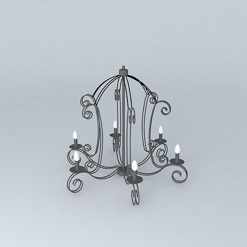avignon suspension maisons du monde model 3d model max obj. Black Bedroom Furniture Sets. Home Design Ideas