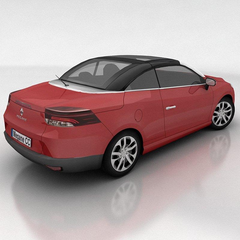renault megane coupe cabriolet 3d model game ready max. Black Bedroom Furniture Sets. Home Design Ideas