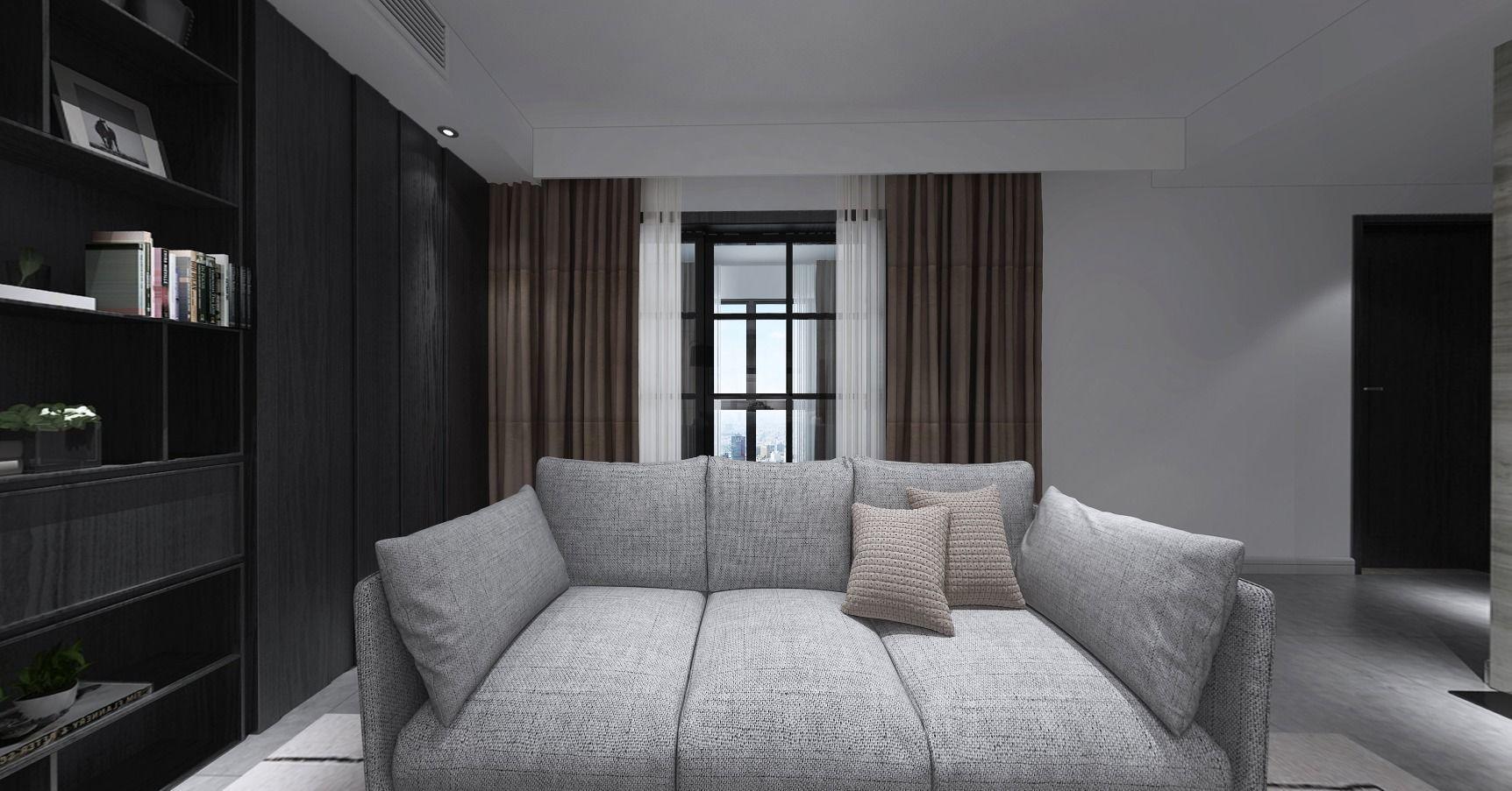 Apartment Modern Sofa European Style Living Room 3d Model Max