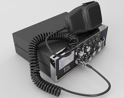 Mobile CB Radio 3D Model