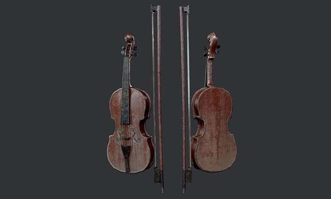 Violin Instrument Game Ready 05
