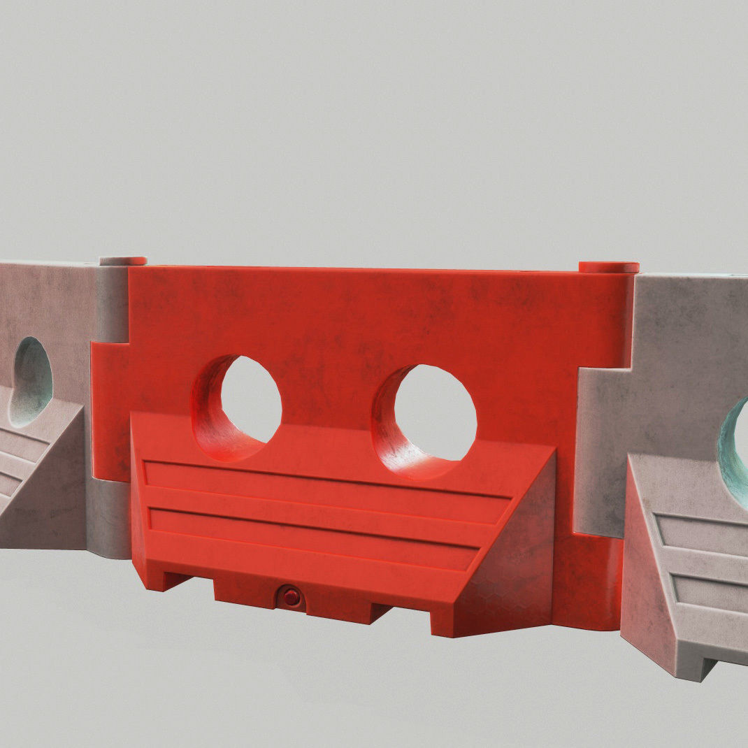 PLASTIC BARRIER 3D - Game Ready-VR
