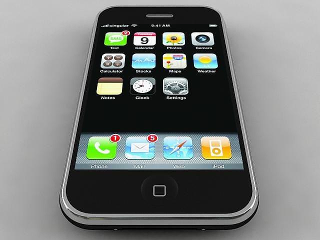 iphone 3g 3d model max obj mtl 3ds stl wrl wrz 1