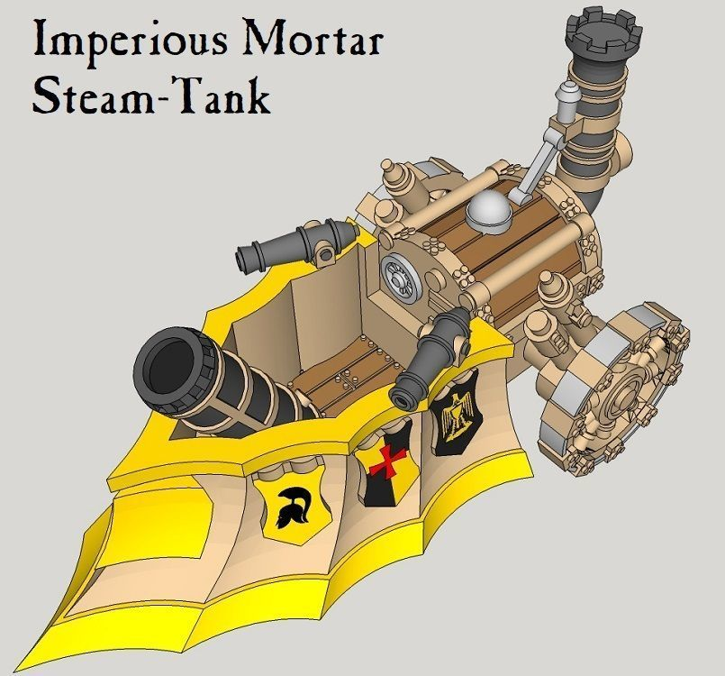 10mm Imperious Mortar Steam-Tank