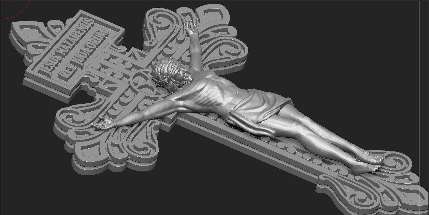 JESUS ON THE CROSS 3D print model 2