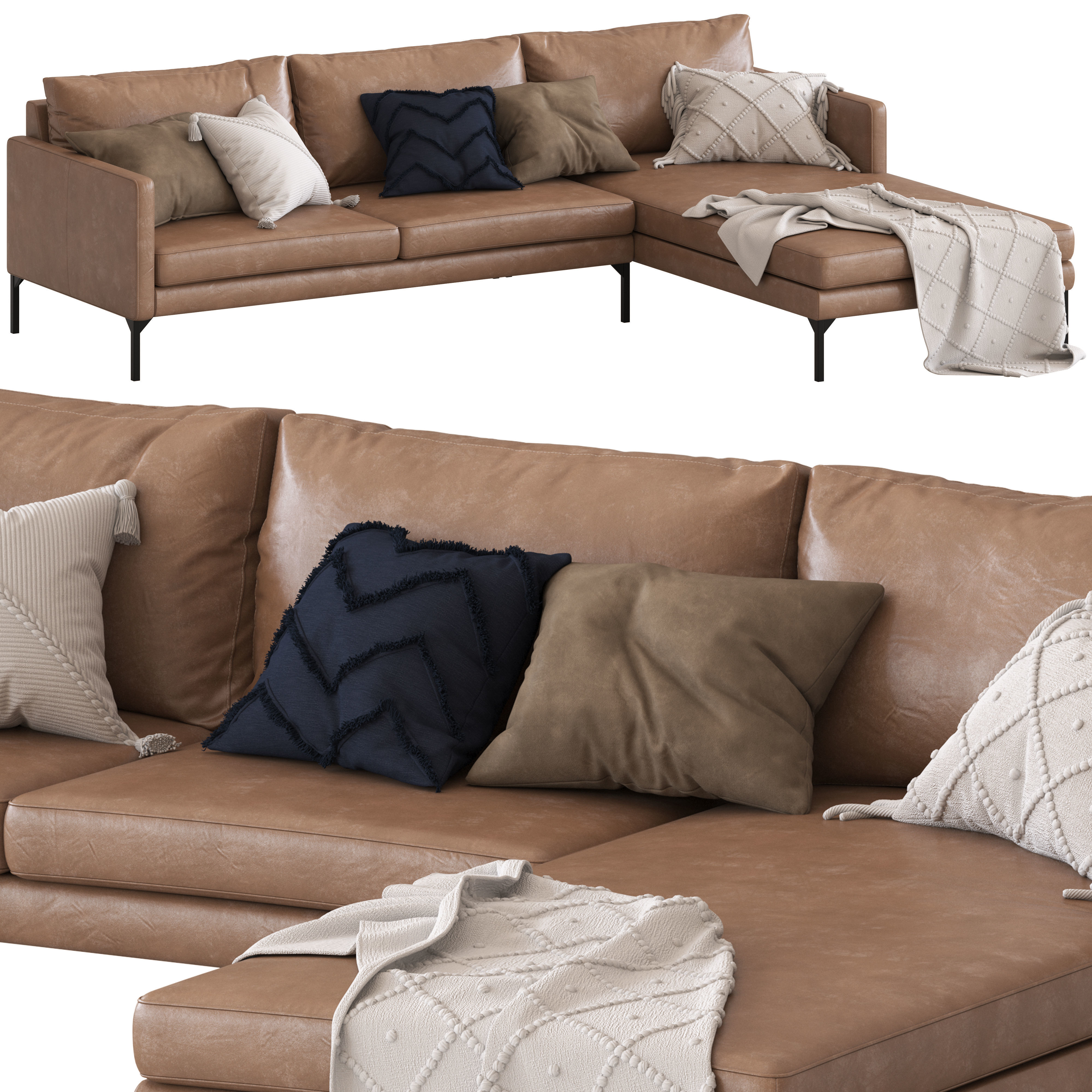Globewest Bogart 2 seater sofa sofa with chaise